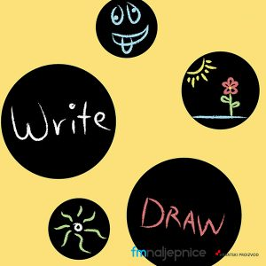 Naljepnica za pisanje kredom – krug