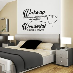 Zidna naljepnica – Wake up every morning