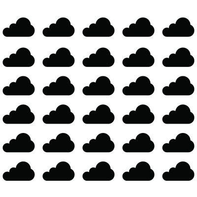 Zidne naljepnice – oblacic set