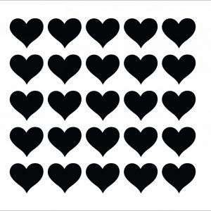 Zidne naljepnice – srca set