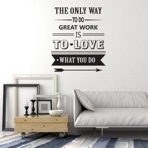 moderne zidne naljepnice citat