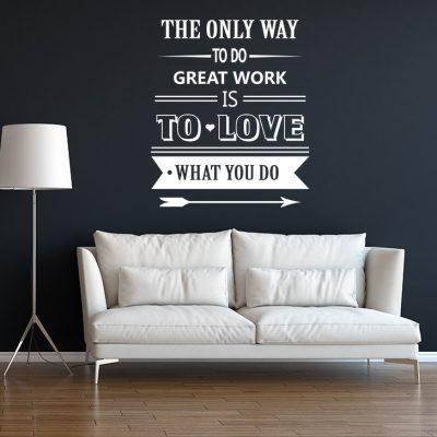 naljepnica za zid citat tekst