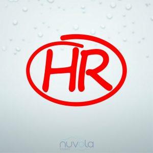 Naljepnica HR oznaka 1