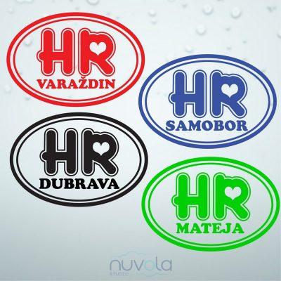 Naljepnica HR karta personalizirana