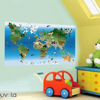 Karta svijeta za djecu, cijena, printanje, dječja karta, naljepnica, gdje kupiti
