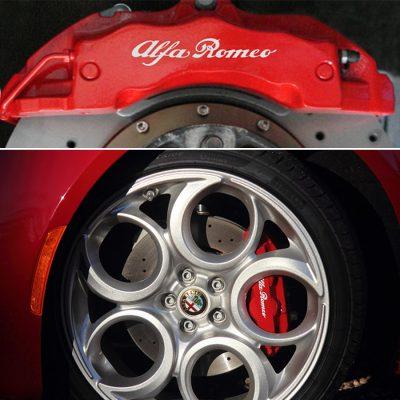 Alfa Romeo naljepnice za kočiona klijesta – set 4 kom