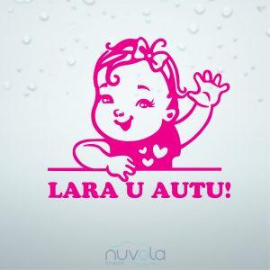 Naljepnica Beba u autu za curice