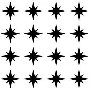 Zidne naljepnice – zvjezdice 2