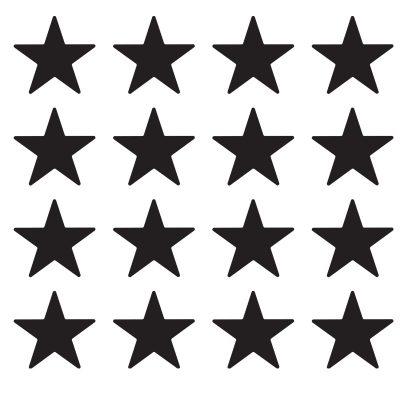 Zidne naljepnice – zvjezdice