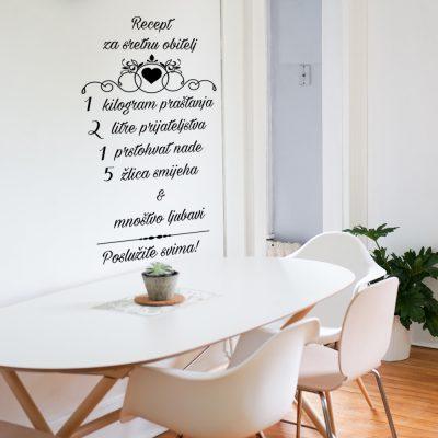 Zidna naljepnica – recept za sretnu obitelj