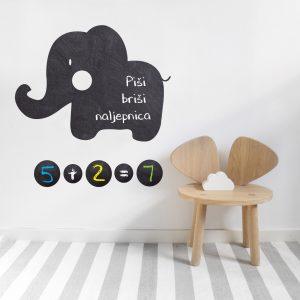 Zidna kreda naljepnica slon