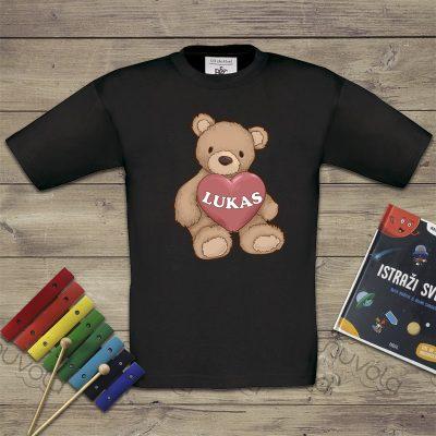 Dječja majica – medvjedić s imenom