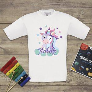 Dječja majica – jednorog s imenom