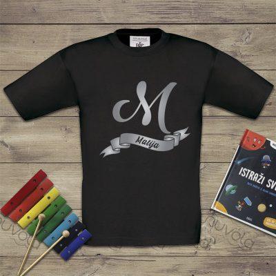 Dječja majica – slovo s imenom