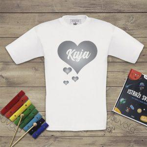 Dječja majica – srce s imenom