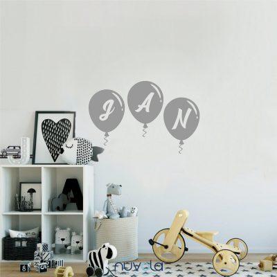 Zidna naljepnica s imenom 7 baloni