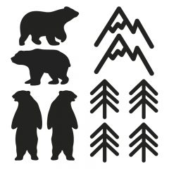 Zidne naljepnice – planine i šuma