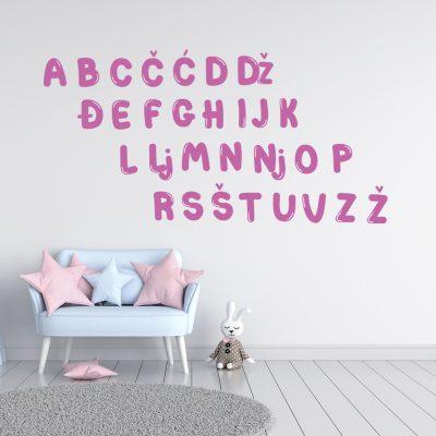 Zidne naljepnice – abeceda 2