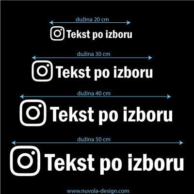 Instagram naljepnica 1